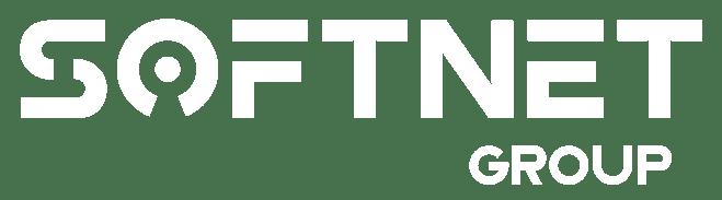 Softnet logo white